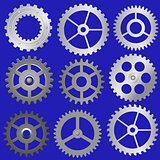 set vector gears