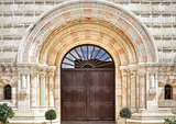 The entrance to the Dormition Abbey in Jerusalem