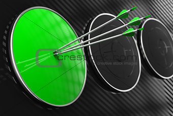 Blank Green Target for Your Concept.