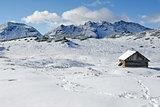 Dolomites under snow