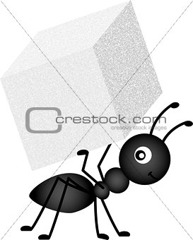 Ant Carrying Sugar Cube