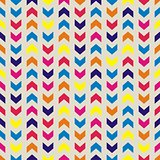 Aztec Chevron seamless vector colorful pattern, texture or background with zigzag stripes.