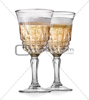 Goblets of champagne