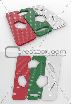 Football Symbol In The Bulgarian National Colors