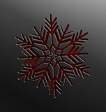 Christmas snowflake cut of paper
