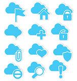 Cloud icon set web