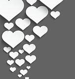 White heart border