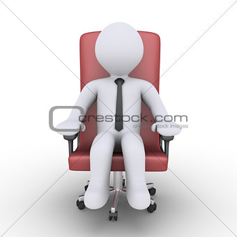 Businessman is relaxing on chair