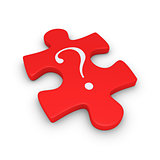 Puzzle piece with question mark