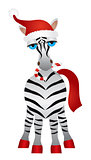 Christmas Zebra Illustration