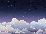 Night starry sky.