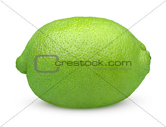 Single lime fruit