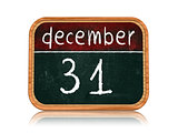 december 31 on blackboard banner