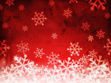 abstract red background with snowflakes