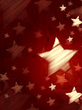abstract red background with striped stars, vertical