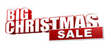 big christmas sale in 3d red letters and block