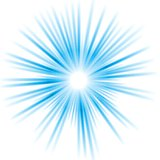 Abstract blue shiny vector sun design