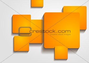Bright orange squares vector design