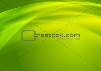 Bright green vector waves design
