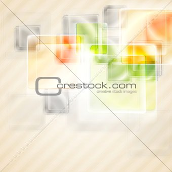 Bright glossy squares background