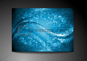 Bright blue wavy grunge design