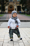 Cute little boy outdoors