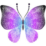 Fantasy grungy vintage butterfly