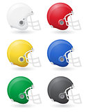 american football helments vector illustration