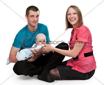 Mom and Dad with a baby