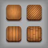 Set of wood background for the app icons