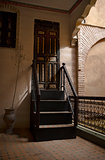 Riad wooden stairs