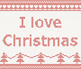 I love Christmas. Knitted pattern