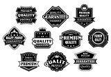 Labels set in vintage western style