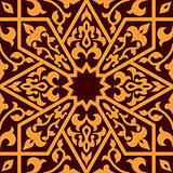 Arabian eastern seamless ornament