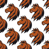 Seamless pattern with majestic stallion