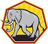 Angry Elephant Walking Cartoon