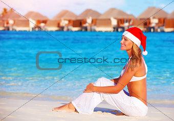 Christmas celebration on Maldive island