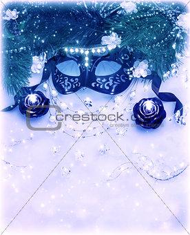 Carnival mask border