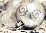 Silver Christmas tree ornament