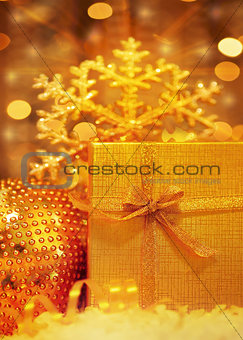 Beautiful golden gift