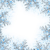 Snowflake decorative frame