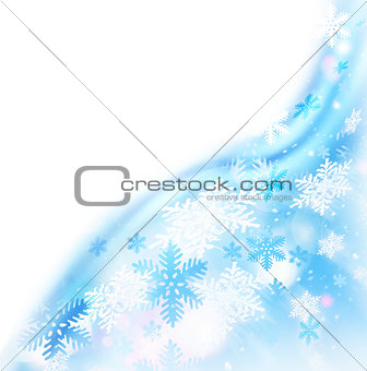 Abstract snowflake border