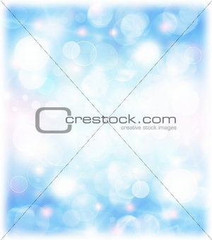 Abstract blue holiday background