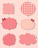 set of different Valentine`s dey labels,  design elements