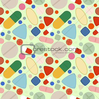 Flat Background of Pills