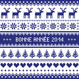Bonne Annee 2014 - french happy new year pattern