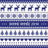 Bonne Annee 2014 - french happy new year pattern