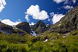Mountain peaks on Lofoten