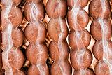 vacuum-packaged sausages