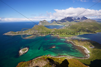 Aerial view of Lofoten